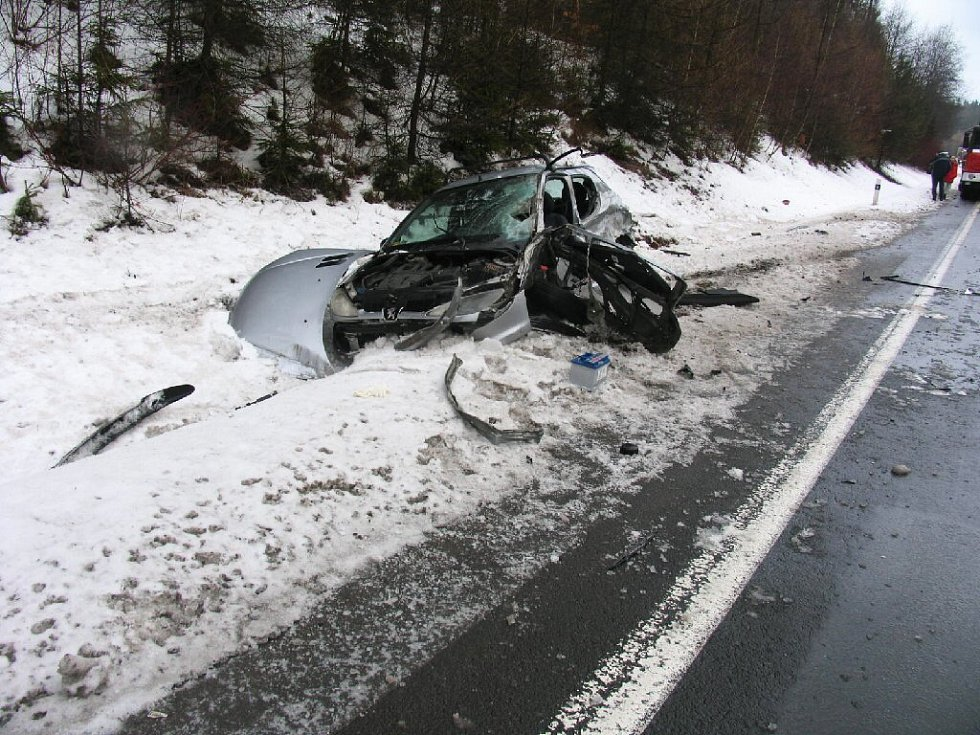 Nehoda na kopci Babák.