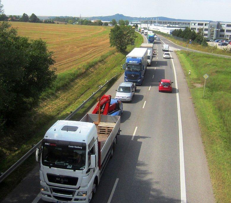 Dopravní situace na Jičínsku, čtvrtek 24. srpna 2017