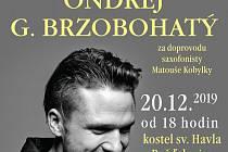 Benefiční koncert Ondřeje G. Brzobohatého v Rožďalovicích.