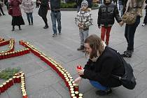 Hořičtí studenti uctili památku Václava Havla.