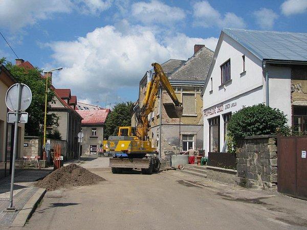 Zbudování kanalizace vSobotce.