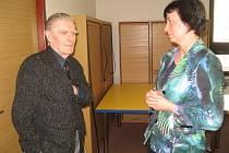 Beseda v knihovně s profesorem Robertem Kvačkem.