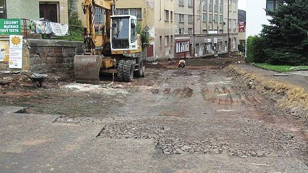 Ulice F.F. Procházky v rekonstrukci.
