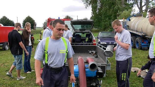 Ze soutěže hasičů ve Vitiněvsi.
