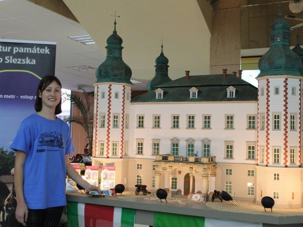 Model vrchlabského zámku.
