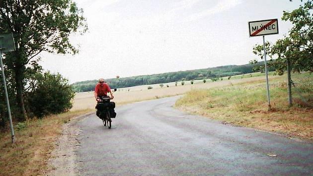 Cyklista cestovatel Josef Hlaváček z Mlýnce.
