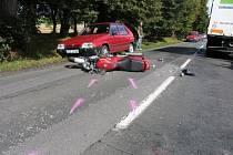Nehoda v lipách směrem na Valdice.
