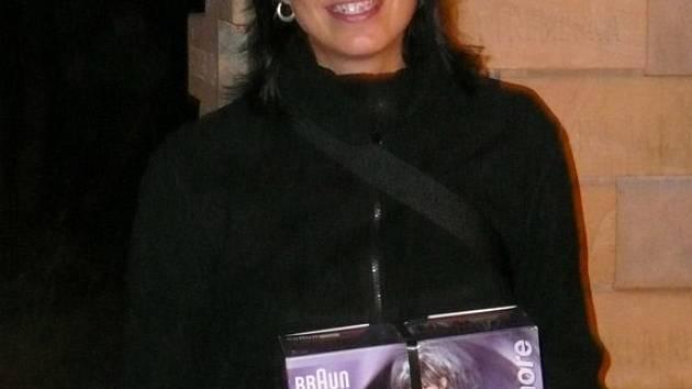 Miss Volejbal 2007 Jana Endlerová, oceněná v Dřevěnici.