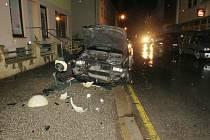 Nehoda opilého řidiče v Nové Pace.