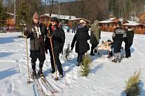 Peckovské závody na historických lyžích.