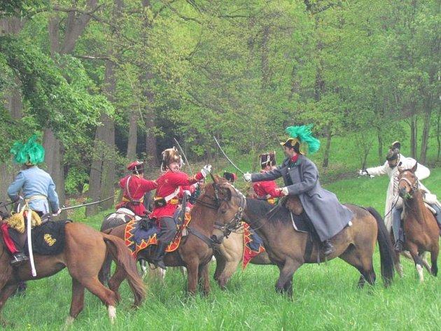 Vzpomínková bitva v Prachovském sedle.