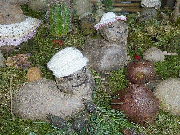 Zajímavé výtvory Petra Kvapila z brambor.
