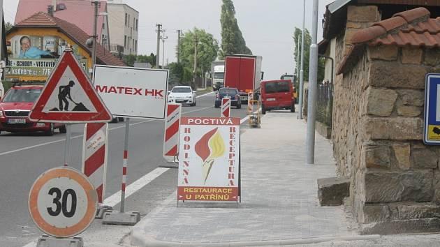 Nový chodník v Konecchlumí.