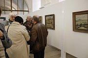 Vernisáž výstavy děl Františka Maxe v jičínské galerii.