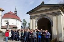 Studenti z Goslaru u lodžie.