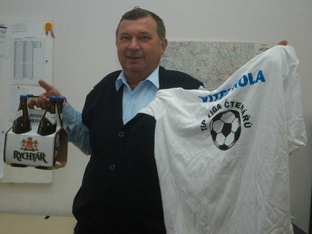 Vítěz osmého kola Karel Medlík z Hořic.