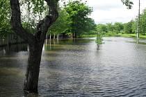 Velká voda v Popovicích.