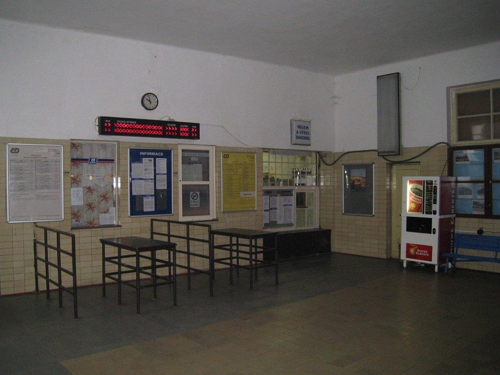 Jičínské nádraží.