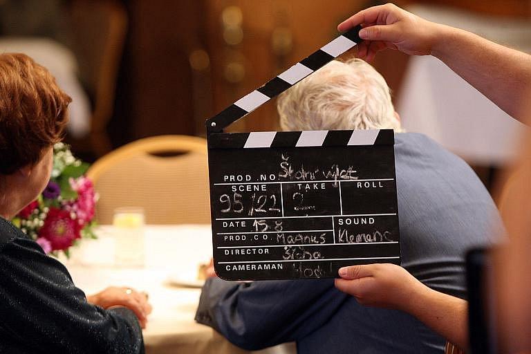 Z natáčení filmu Školní výlet v Lázních Bělohradě.