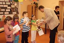 Akce pro žáky v hořické knihovně.
