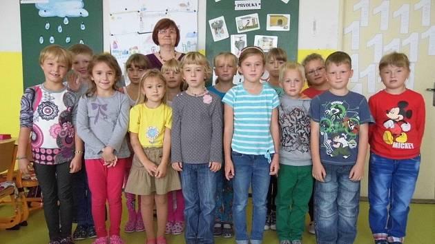Prvńáčci ostroměřské základní školy.
