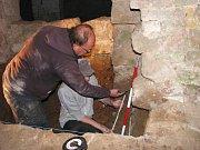 Archeologický průzkum valdštejnské lodžie.
