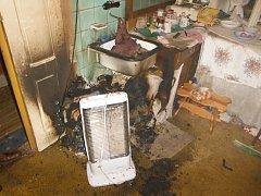 Hasiči zasahovali v Hořicích u seniorky popálené od přímotopu.