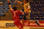 Z utkání HC Zlín - HBC Ronal Jičín.