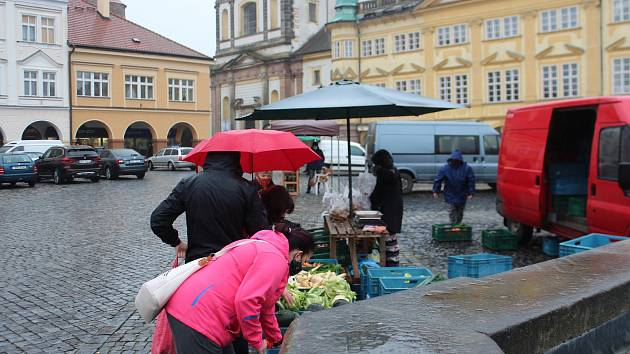 Trhy v Jičíně.