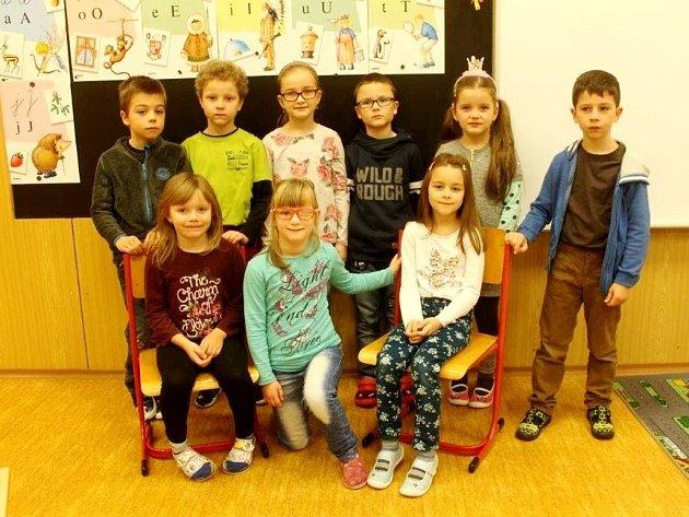Žáci 1.třídy ze ZŠ Valdice.