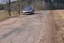 Špatný stav některých našich silnic.