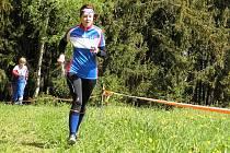 Na doběhu pátečních závodů Lucie Vlastníková z oddílu OK Jilemnice.