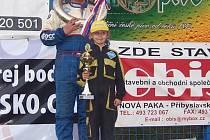 Václav Fejfar na nejvyšším stupni - na mezinárodním mistrovství republiky ve Šikovské rokli.
