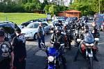 V kempu u Jinolických rybníků se konal 25. ročník motorkářského srazu