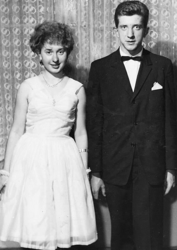 Moje taneční 1963 - moje tanečnice Jitka.