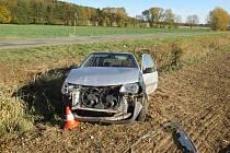 Nehoda citroënu na Bělohradsku.