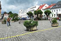 Klidová zóna na novopackém Masarykově náměstí.