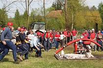 Ze soutěže dobrovolných hasičů v Drštěkryjích.