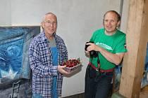 Návštěva v ateliéru Michaila Ščigola.