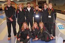 Výprava jičínských kuželkářek v německém Augsburgu, kde družstvo bojovalo v mezinárodním poháru NBC.