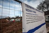 Stavba autobusového terminálu v Nové Pace