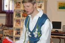 Představitel pohádkového skřítka Martin Severýn.