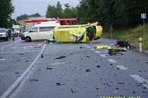 Z místa tragické nehody u Samšiny.