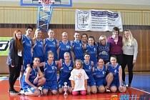 Jičínské basketbalové družstvo žen.