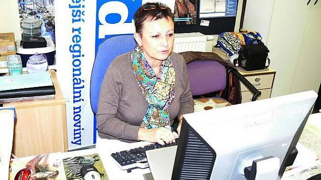 Jarmila Novotná při on-line rozhovoru v naší redakci.