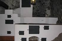 Černá kuchyně hradu Roštejn