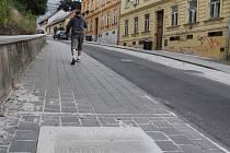 Srázná ulice v Jihlavě.