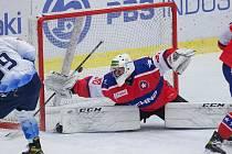 Skvělý výkon. Pavel Jekel v třebíčské brance byl pro havířovský celek problémem číslo jedna. I díky tomu hosté zapsali tři body.