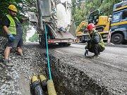 Rekonstrukce silnice č. 38 mezi Stonařovem a Dlouhou Brtnicí.