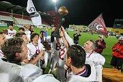 Souboj o titul vítěze 3.ligy amerického fotbalu a Bitters Bronze Bowl trofej mezi Vysočina Gladiators a Přerov Mammoths.